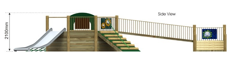 Foxley 3 Inclusive Play tower side view