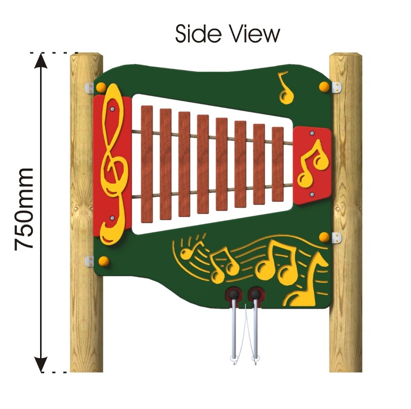 Hardwood Xylophone Panel side view