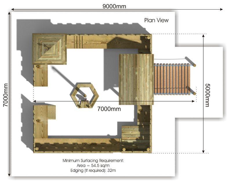 Heacham Fort plan view