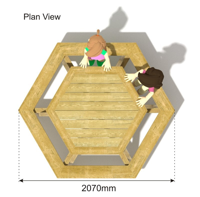 Hexagonal Picnic Table plan view