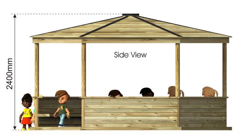 Hexagonal Shelter side view