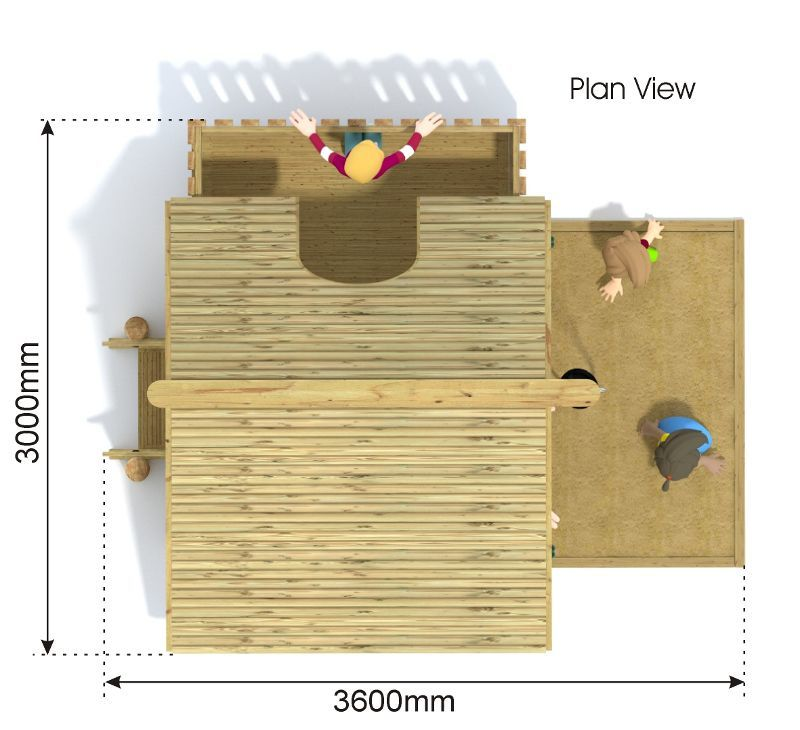 Large Play Hut plan view