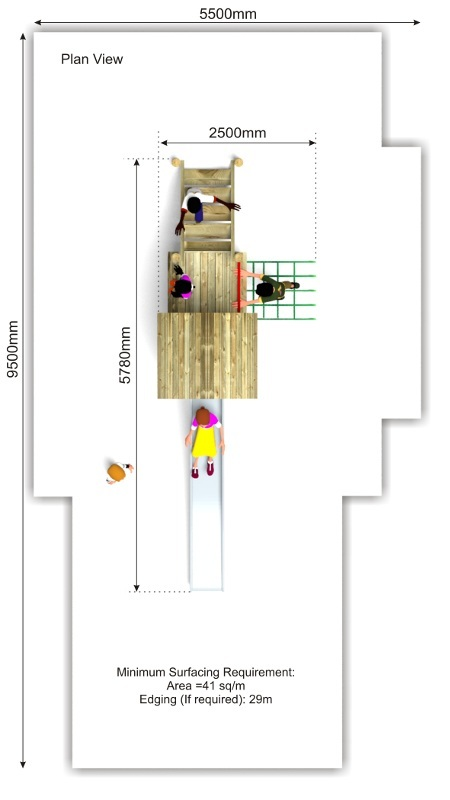 Litcham 18 Play Tower plan view