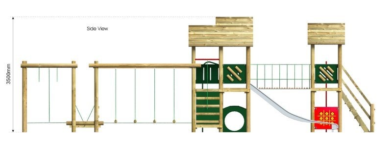 Litcham 5 Play Tower side view