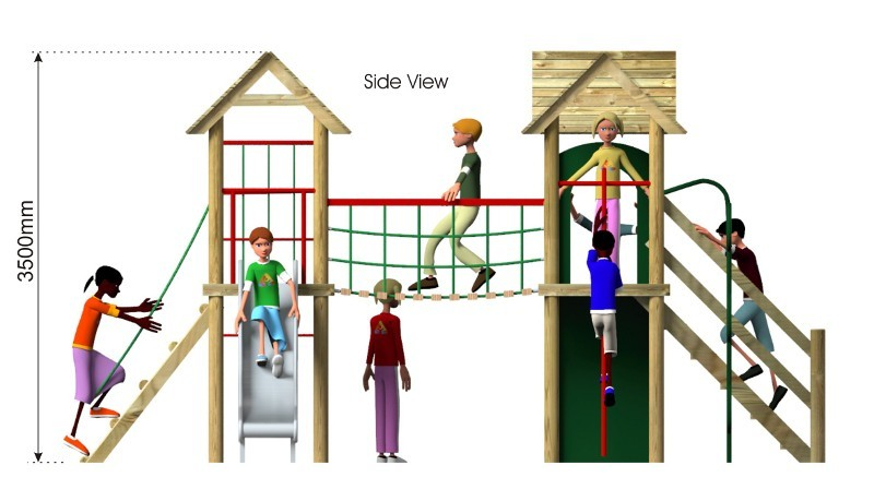 Litcham 6 Play Tower side view