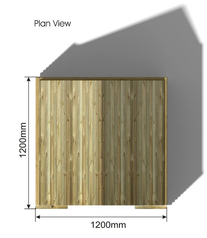 Playhouse Hut plan view