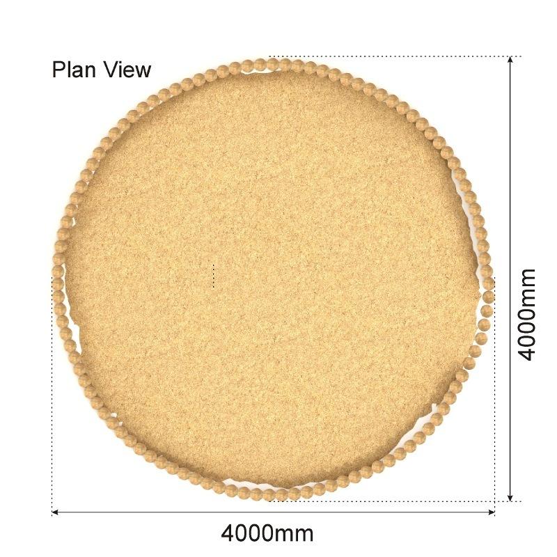 Round Sand Pit plan view