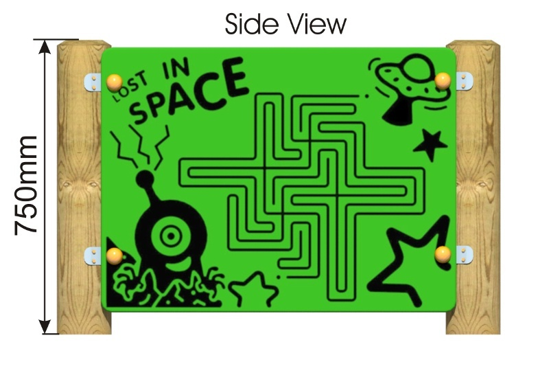Space Maze Panel side view
