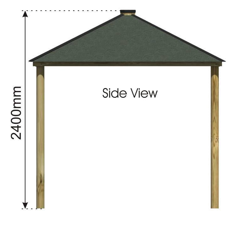 Square Shelter side view