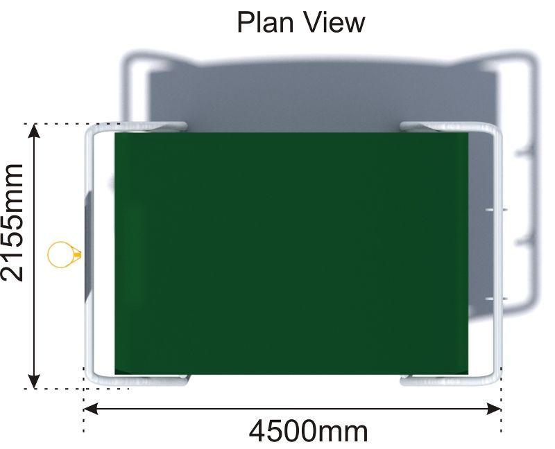 Teen Shelter plan view
