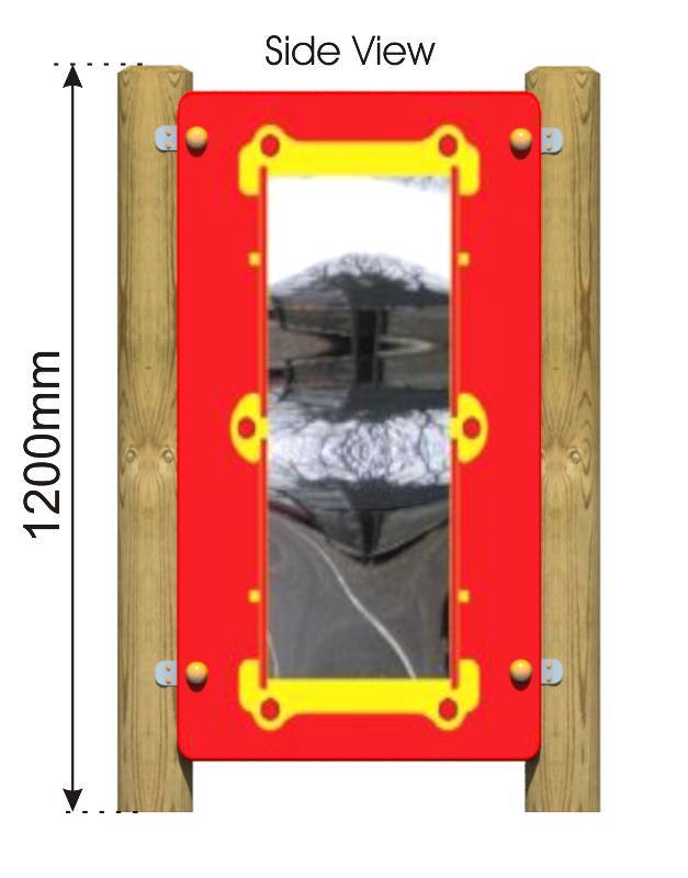 Wobbly Mirror Panel – UNAVAILABLE side view