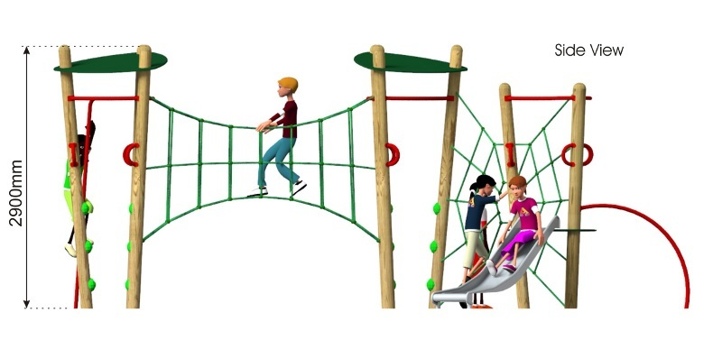 Xplorer 8 Climbing Frame side view