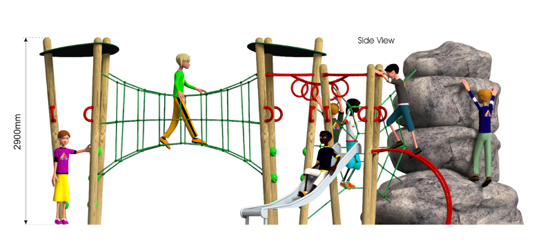 Xplorer 9 Climbing Frame side view