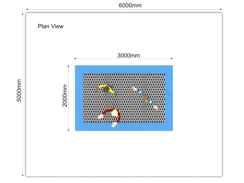 Trampoline Large plan view