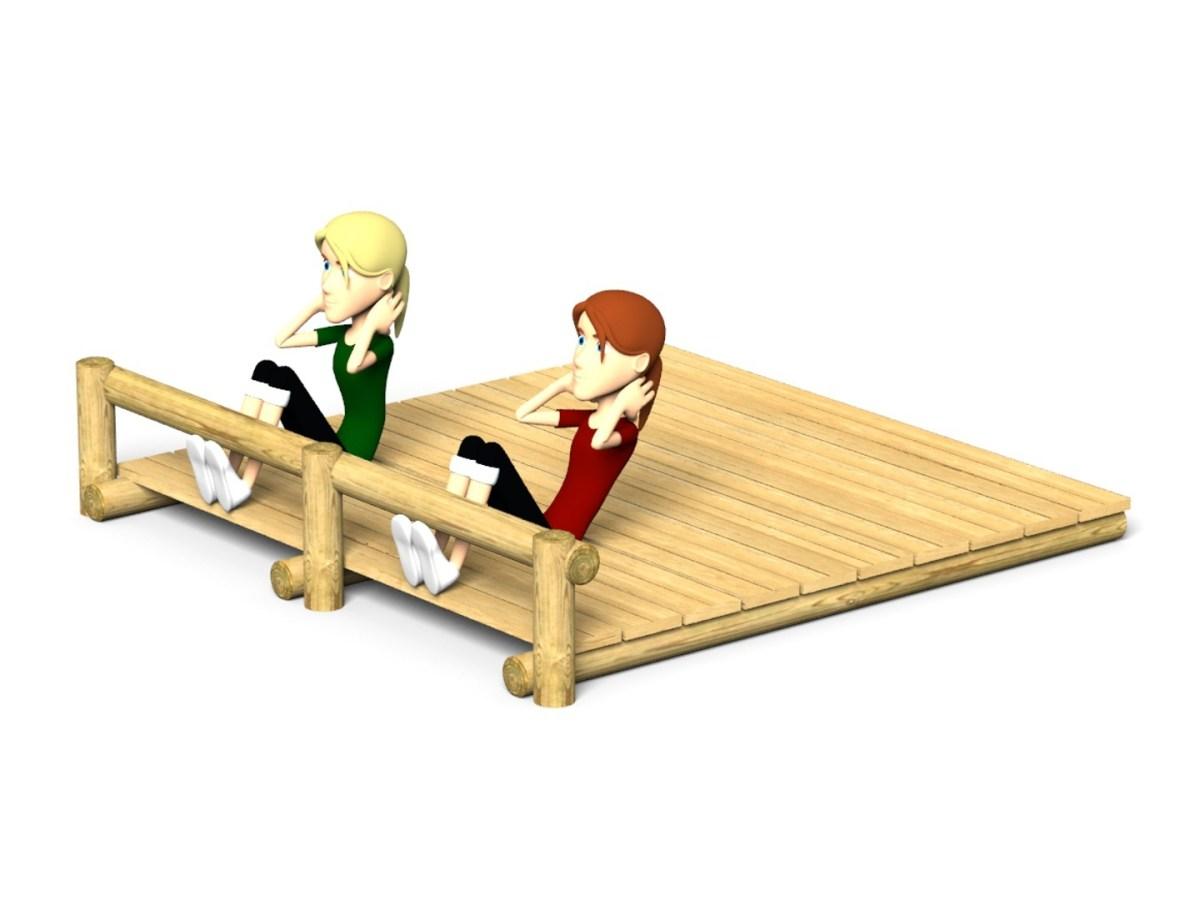 Two Bay Sit Up Platform
