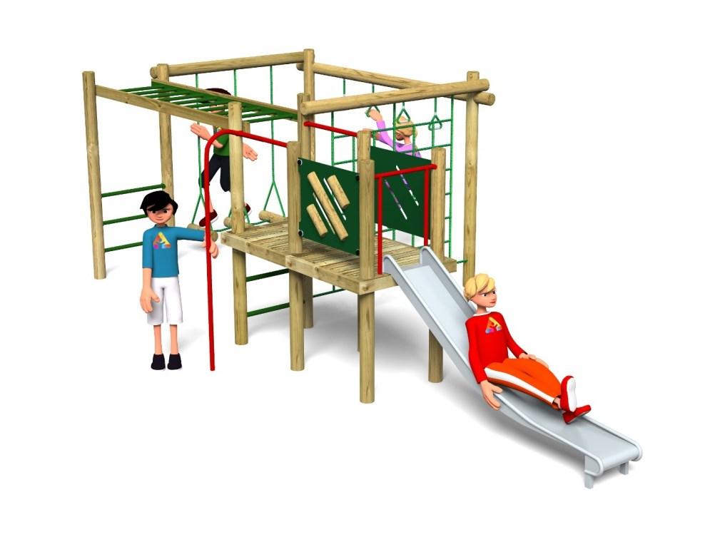 Carleton 4 Climbing Frame | Action Play & Leisure