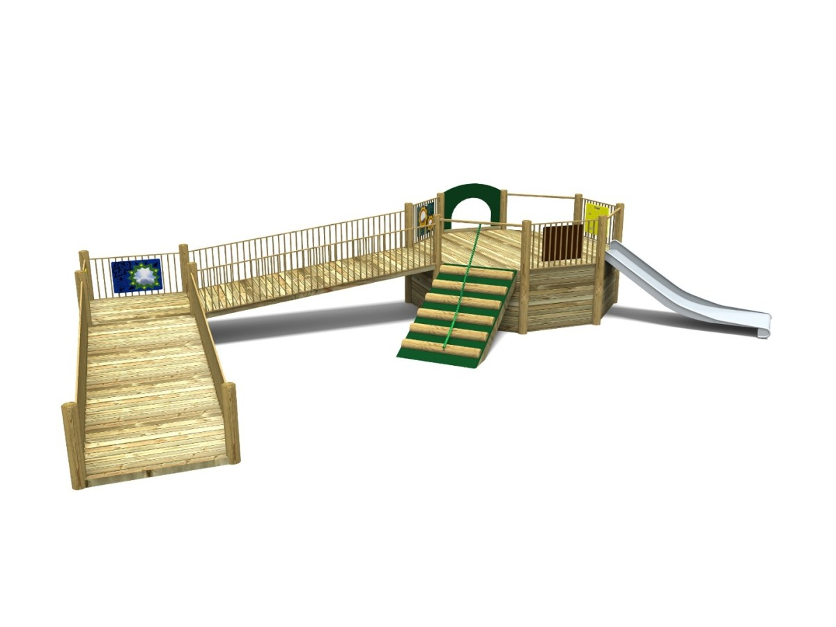 Foxley 3 Inclusive Play Tower with wheelchair access