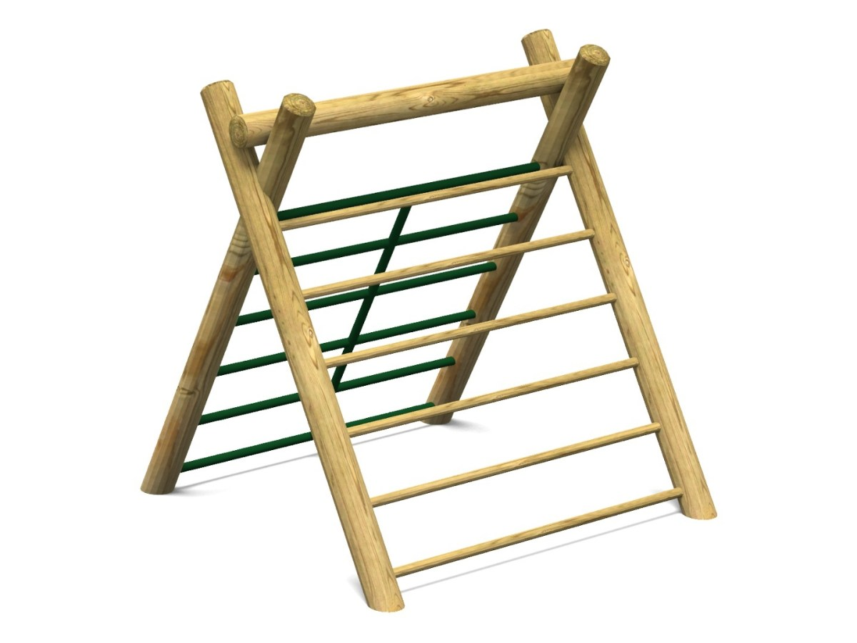 Inclined Climber with Green Bars