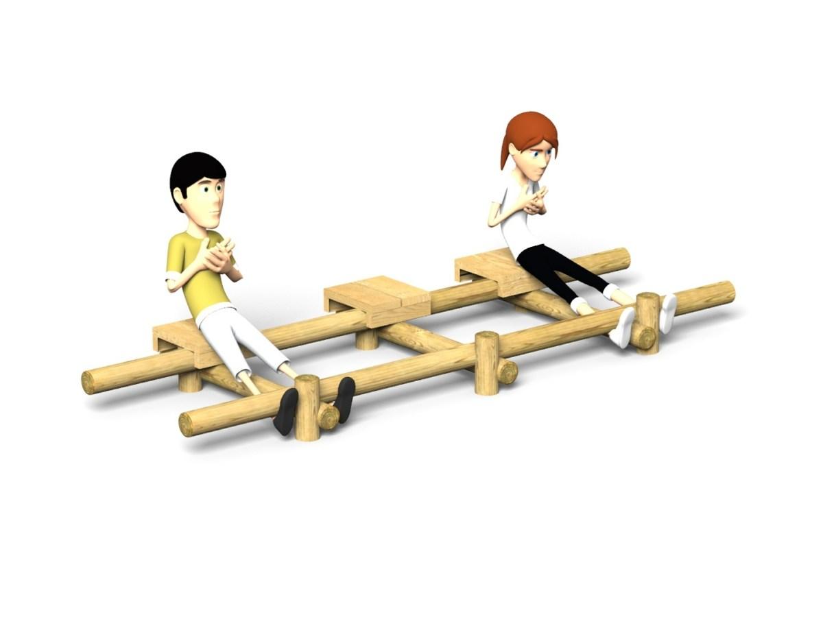 Triple Sit Ups Bench