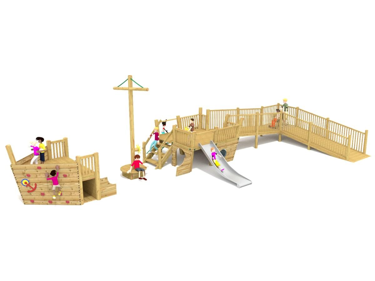 Blakeney Play Ship with wheelchair ramp