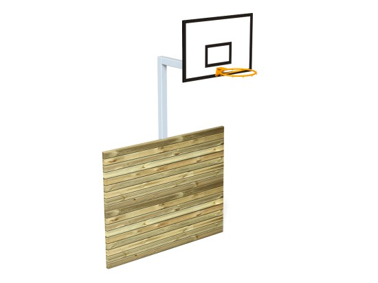 Basket Hoop with Kickwall