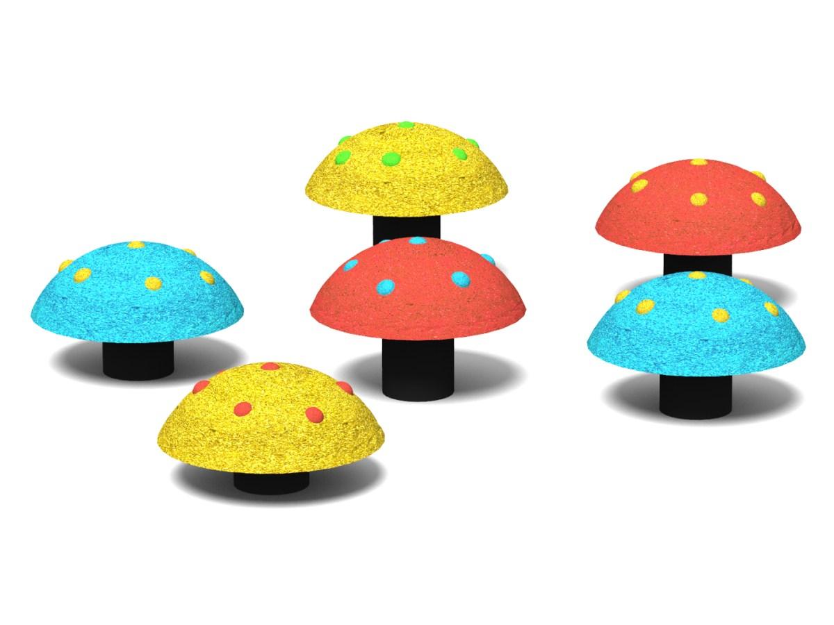 Rubber Mushrooms