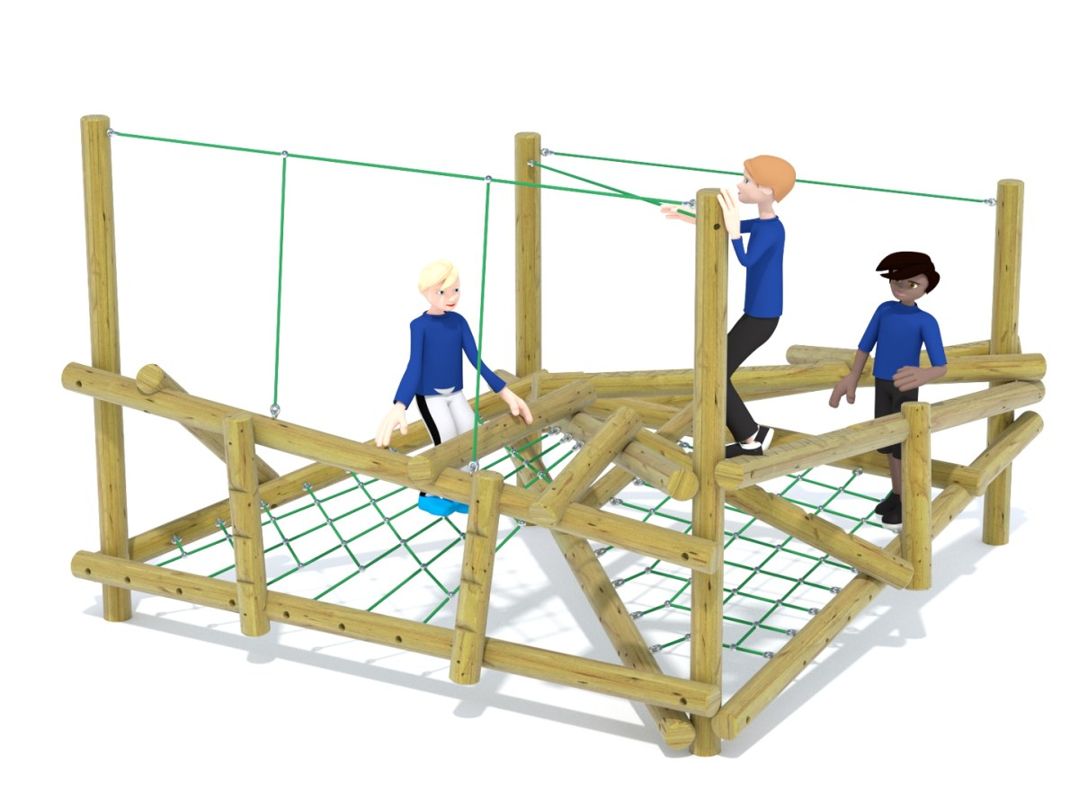 Forest Stack 3 Climbing Frame