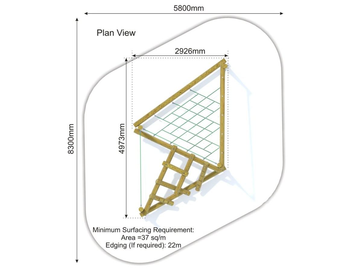 Forest Stack 6 Climbing Frame plan view
