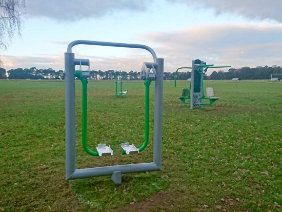 Outdoor gym equipment in Cockley Cley Norfolk