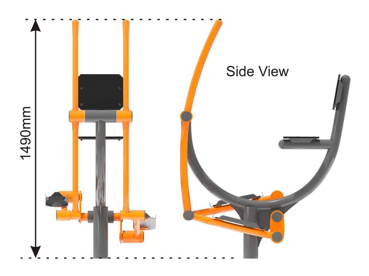 Bike Cross Trainer side view