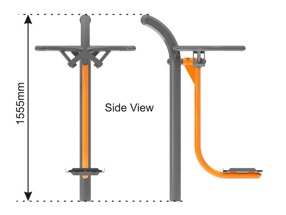 Outdoor Ski Trainer Machine side view