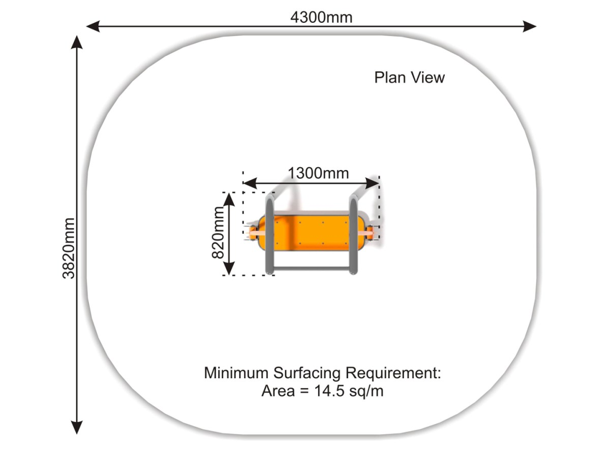 Surfer plan view