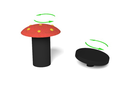 Spinning Mushroom Seat and Disc