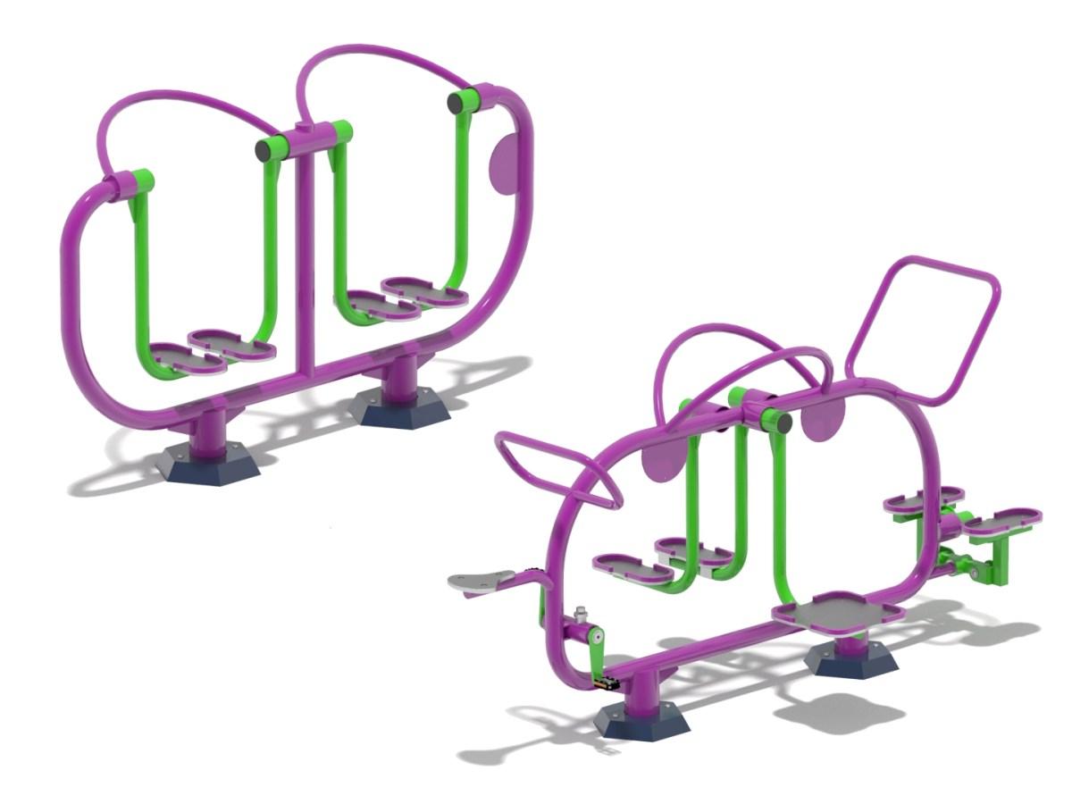 Outdoor Gym equipment for children - Set 1 - 5 Activities for 6 children