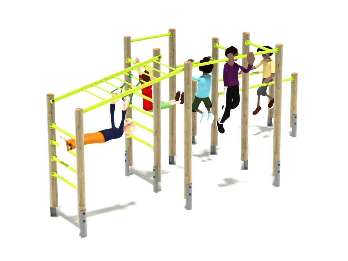 Outdoor fitness centre - calisthenics or body weight exercises