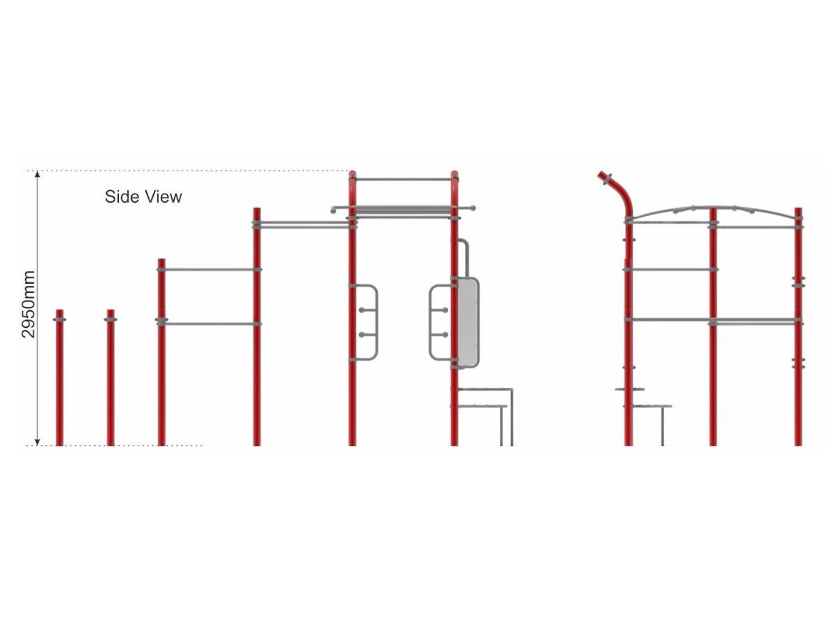 Street Workout Callisthenics – Set 5 side view