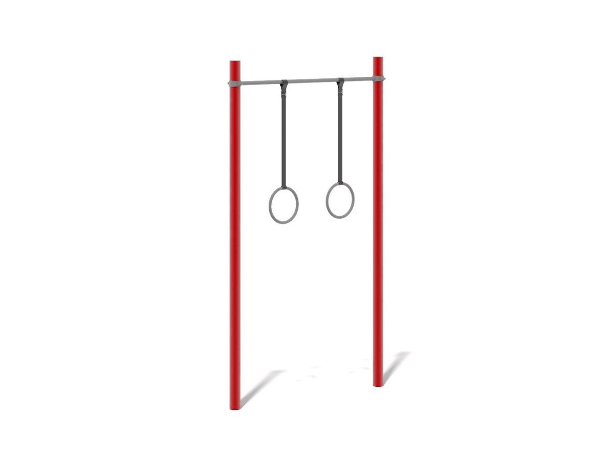 Gymnastic Rings on Steel Frame