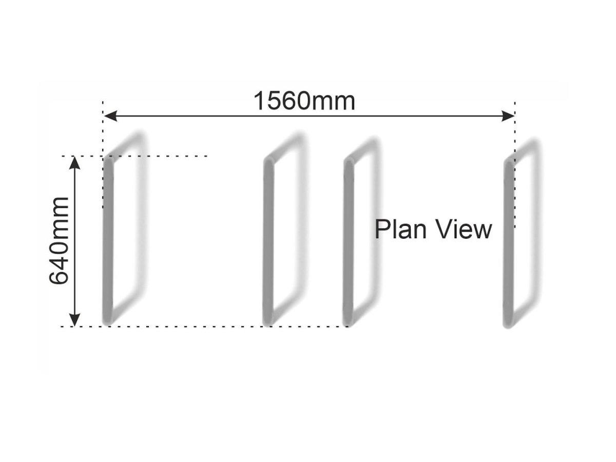 Low Dip Bars   Parallel Bars plan view