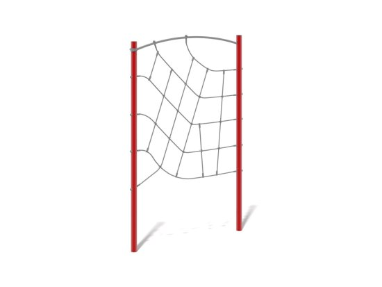Net wall with steel frame