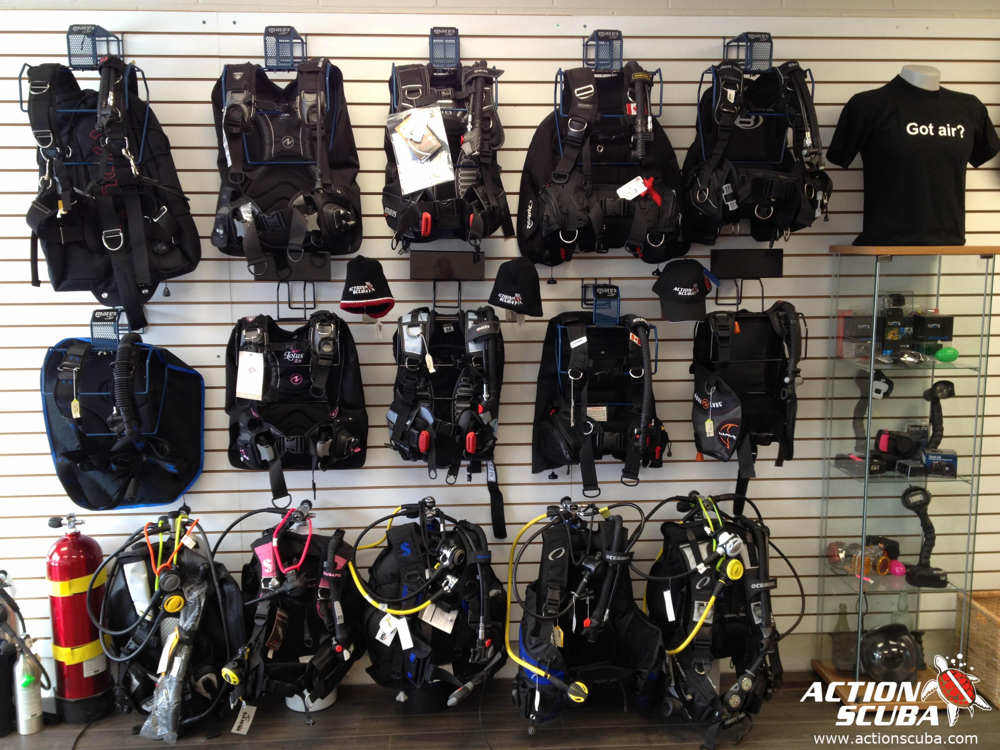 Montreal Scuba Diving Shop Action Scuba Dive Gear