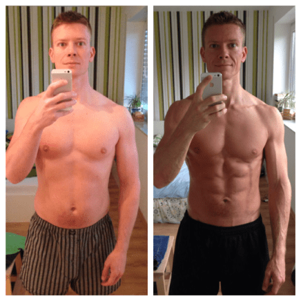 Freeletics Strength & Cardio Coach 05 bis 08/2014 - Freeletics Transformation (Freeletics vorher nachher Foto)