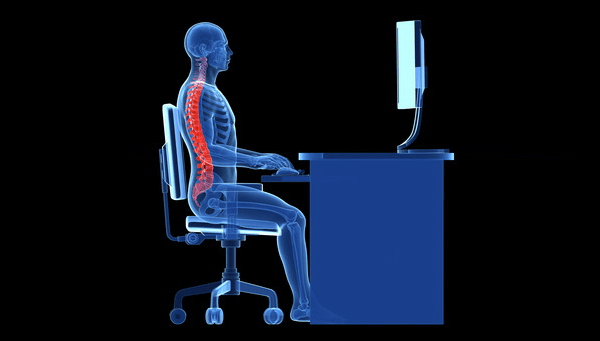 Avoid back and neck pain caused by sitting
