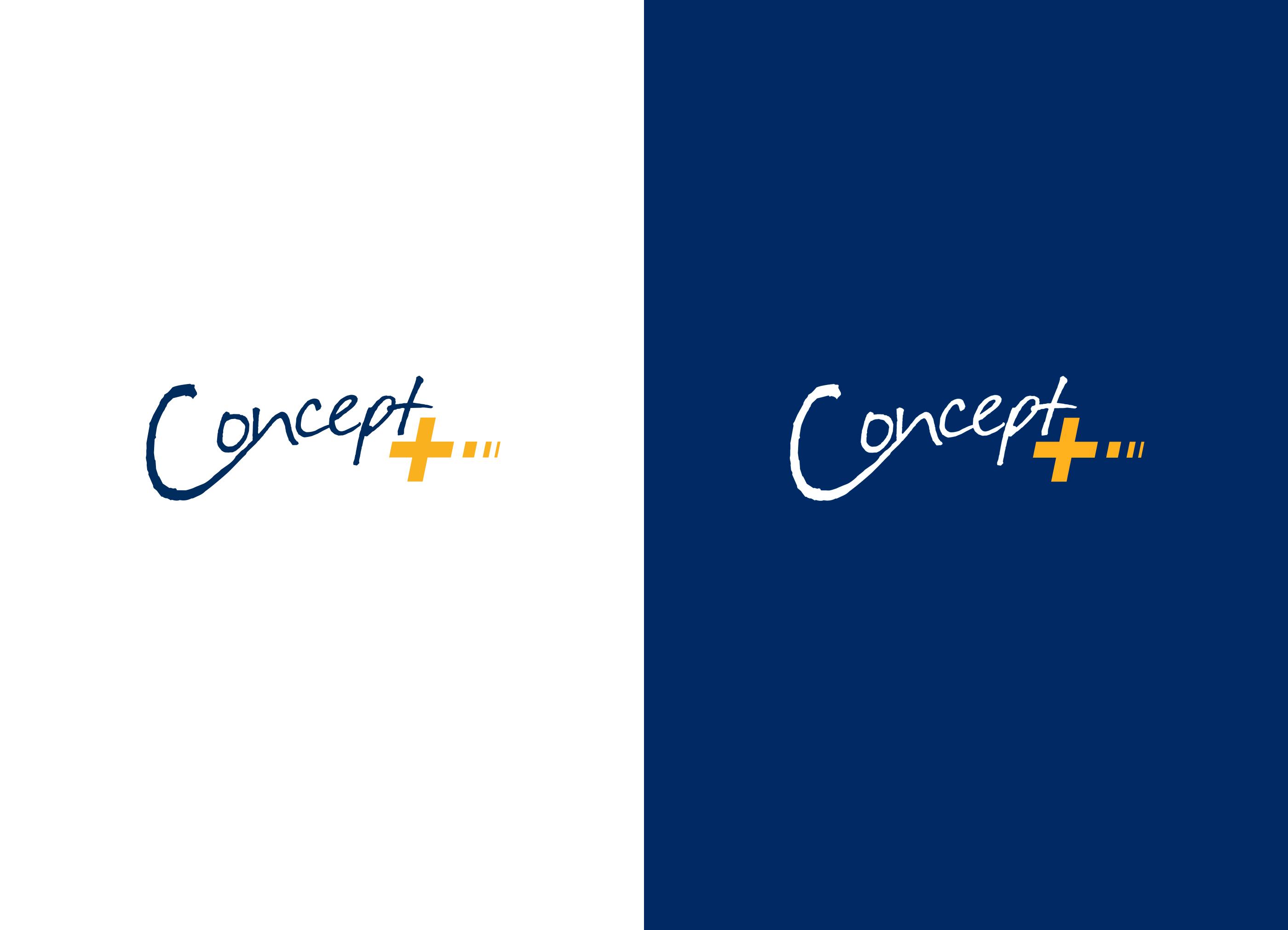 Dit is een afbeelding van het logo voor ConceptPlus op een witte en blauwe ondergrond ontwikkeld door merkversterkend reclamebureau Activates uit Sassenheim