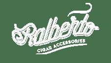 Wit logo Ralberto op een transparante achtergrond ontworpen door Activates merkversterkend reclamebureau uit Sassenheim
