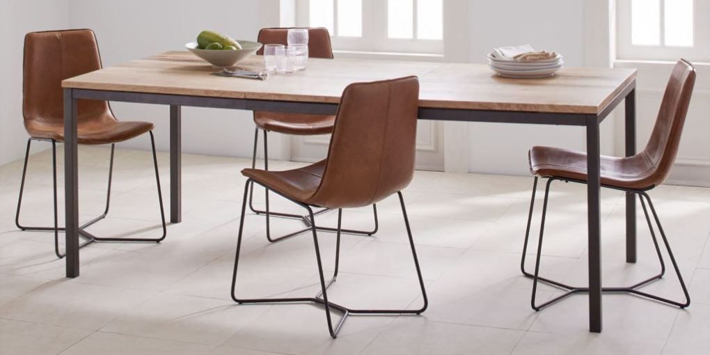 dining table west elm box frame expandable