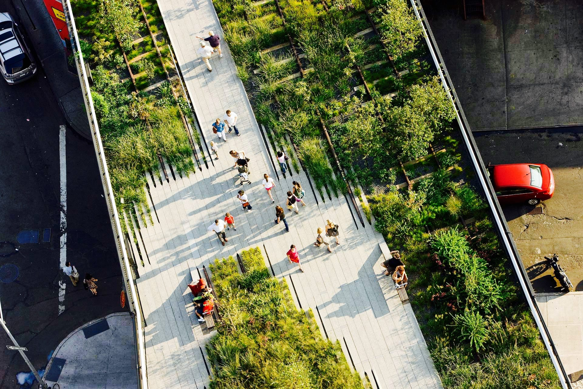 High Line Park Overview shot, NYC