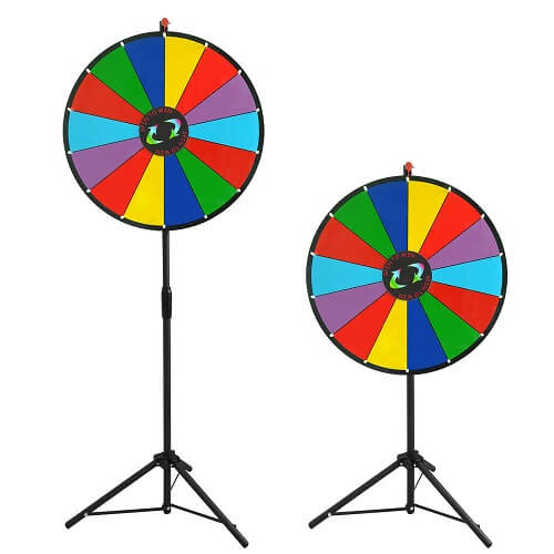 Prize wheel heights