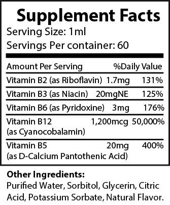 B-12 Supplement Facts