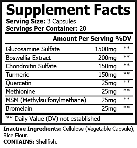 Glucosamine Chondroitin Supplement Facts