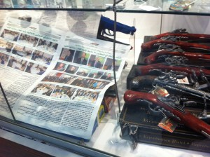 Even Airsoft pistols are highly regulated.  This tobacco shop in a Sydney mall sold Airsoft guns, but the proprietor was not allowed to leave them uncovered in the store display case.  He covered the airsoft guns with sheets of newspaper to comply with the law.